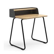 Sedus Secretair Home   Klein Thuiswerk Bureau 80 x 60 cm   Zwart Frame Eiken hout Blad