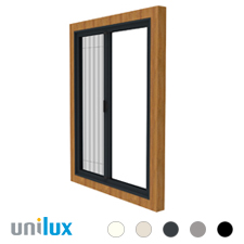 Unilux Inklem Unit Plissé rolhor | voor draaikiep-raam