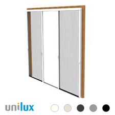 Unilux Plisséfit Easy-Dubbel Plissé hordeur | voor dubbele deuren en grote schuifpui